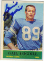 GAIL COGDILL DETROIT LIONS AUTOGRAPHED VINTAGE FOOTBALL CARD #121514O