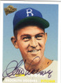 CLEMENT LABINE BROOKLYN DODGERS AUTOGRAPHED BASEBALL CARD #121614C
