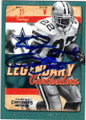 EMMITT SMITH DALLAS COWBOYS AUTOGRAPHED FOOTBALL CARD #121614D