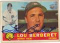 LOU BERBERET DETROIT TIGERS AUTOGRAPHED VINTAGE BASEBALL CARD #121614i