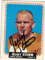 JERRY STURM DENVER BRONCOS AUTOGRAPHED VINTAGE FOOTBALL CARD #121814H