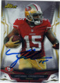 MICHAEL CRABTREE SAN FRANCISCO 49ers AUTOGRAPHED FOOTBALL CARD #121814J