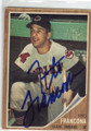 TITO FRANCONA CLEVELAND INDIANS AUTOGRAPHED VINTAGE BASEBALL CARD #122814B