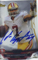 COLIN KAEPERNICK SAN FRANCISCO 49ers AUTOGRAPHED FOOTBALL CARD #122814C