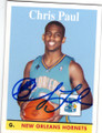 CHRIS PAUL NEW ORLEANS HORNETS AUTOGRAPHED BASKETBALL CARD #122814E