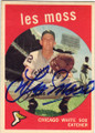 LES MOSS CHICAGO WHITE SOX AUTOGRAPHED VINTAGE BASEBALL CARD #122814F