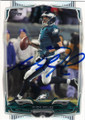 NICK FOLES PHILADELPHIA EAGLES AUTOGRAPHED FOOTBALL CARD #122914B