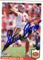 STEVE BONO SAN FRANCISCO 49ers AUTOGRAPHED FOOTBALL CARD #10215A