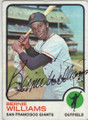 BERNIE WILLIAMS SAN FRANCISCO GIANTS AUTOGRAPHED VINTAGE BASEBALL CARD #10315B