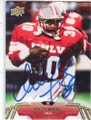 ICKEY WOODS UNLV AUTOGRAPHED FOOTBALL CARD #10315C