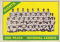 1966 TOPPS SAN FRANCISCO GIANTS VINTAGE TEAM CARD #10315G
