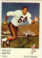 WILLIE SMITH DENVER BRONCOS AUTOGRAPHED VINTAGE FOOTBALL CARD #10315J