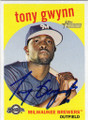 TONY GWYNN MILWAUKEE BREWERS AUTOGRAPHED BASEBALL CARD #10515H