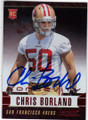 CHRIS BORLAND SAN FRANCISCO 49ers AUTOGRAPHED ROOKIE FOOTBALL CARD #10515i
