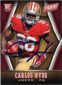 CARLOS HYDE SAN FRANCISCO 49ers AUTOGRAPHED ROOKIE FOOTBALL CARD #10715A
