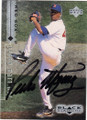 PEDRO MARTINEZ BOSTON RED SOX AUTOGRAPHED BASEBALL CARD #10715E