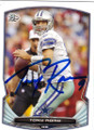 TONY ROMO DALLAS COWBOYS AUTOGRAPHED FOOTBALL CARD #10815J