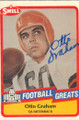 OTTO GRAHAM CLEVELAND BROWNS AUTOGRAPHED FOOTBALL CARD #10915D