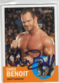CHRIS BENOIT AUTOGRAPHED WRESTLING CARD #10915i