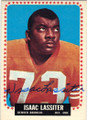 ISAAC LASSITER DENVER BRONCOS AUTOGRAPHED VINTAGE ROOKIE FOOTBALL CARD #11015B