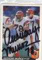 ANTHONY MUNOZ CINCINNATI BENGALS AUTOGRAPHED FOOTBALL CARD #11015G