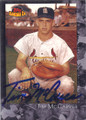 TIM McCARVER ST LOUIS CARDINALS AUTOGRAPHED BASEBALL CARD #11015H