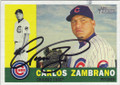 CARLOS ZAMBRANO CHICAGO CUBS AUTOGRAPHED BASEBALL CARD #11015L