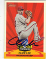 CLIFF LEE PHILADELPHIA PHILLIES AUTOGRAPHED BASEBALL CARD #11115D