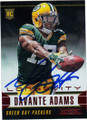 DAVANTE ADAMS GREEN BAY PACKERS AUTOGRAPHED ROOKIE FOOTBALL CARD #11115K