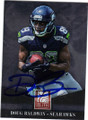 DOUG BALDWIN SEATTLE SEAHAWKS AUTOGRAPHED FOOTBALL CARD #11215C
