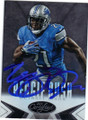 REGGIE BUSH DETROIT LIONS AUTOGRAPHED FOOTBALL CARD #11215F