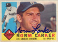 NORM LARKER LOS ANGELES DODGERS AUTOGRAPHED VINTAGE BASEBALL CARD #11215G