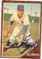 DICK ELLSWORTH CHICAGO CUBS AUTOGRAPHED VINTAGE BASEBALL CARD #11215H