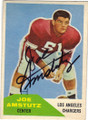 JOE AMSTUTZ LOS ANGELES CHARGERS AUTOGRAPHED VINTAGE FOOTBALL CARD #11315C