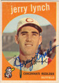 JERRY LYNCH CINCINNATI REDLEGS AUTOGRAPHED VINTAGE BASEBALL CARD #11315E