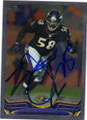ELVIS DUMERVIL BALTIMORE RAVENS AUTOGRAPHED FOOTBALL CARD #11315F