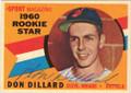 DON DILLARD CLEVELAND INDIANS AUTOGRAPHED VINTAGE BASEBALL CARD #11315i
