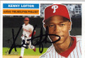 KENNY LOFTON PHILADELPHIA PHILLIES AUTOGRAPHED BASEBALL CARD #11315M