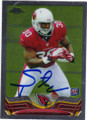 STEPFAN TAYLOR ARIZONA CARDINALS AUTOGRAPHED ROOKIE FOOTBALL CARD #11315O