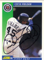 CECIL FIELDER DETROIT TIGERS AUTOGRAPHED BASEBALL CARD #11415B