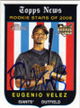 EUGENIO VELEZ SAN FRANCISCO GIANTS AUTOGRAPHED ROOKIE BASEBALL CARD #11415E