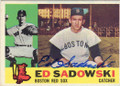 ED SADOWSKI BOSTON RED SOX AUTOGRAPHED VINTAGE BASEBALL CARD #11515A