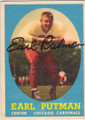 EARL PUTMAN CHICAGO CARDINALS AUTOGRAPHED VINTAGE FOOTBALL CARD #11515D