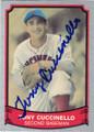 TONY CUCCINELLO CINCINNATI REDS AUTOGRAPHED BASEBALL CARD #11515J