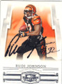 RUDI JOHNSON CINCINNATI BENGALS AUTOGRAPHED FOOTBALL CARD #11515O