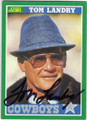 TOM LANDRY DALLAS COWBOYS AUTOGRAPHED FOOTBALL CARD #11915F