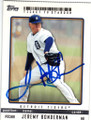 JEREMY BONDERMAN DETROIT TIGERS AUTOGRAPHED BASEBALL CARD #11915G