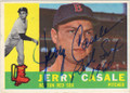 JERRY CASALE BOSTON RED SOX AUTOGRAPHED VINTAGE BASEBALL CARD #11915K