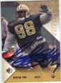 SEDRICK ELLIS NEW ORLEANS SAINTS AUTOGRAPHED ROOKIE FOOTBALL CARD #12015D