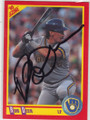 ROB DEER MILWAUKEE BREWERS AUTOGRAPHED BASEBALL CARD #12115B